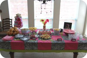 Pink And Zebra table