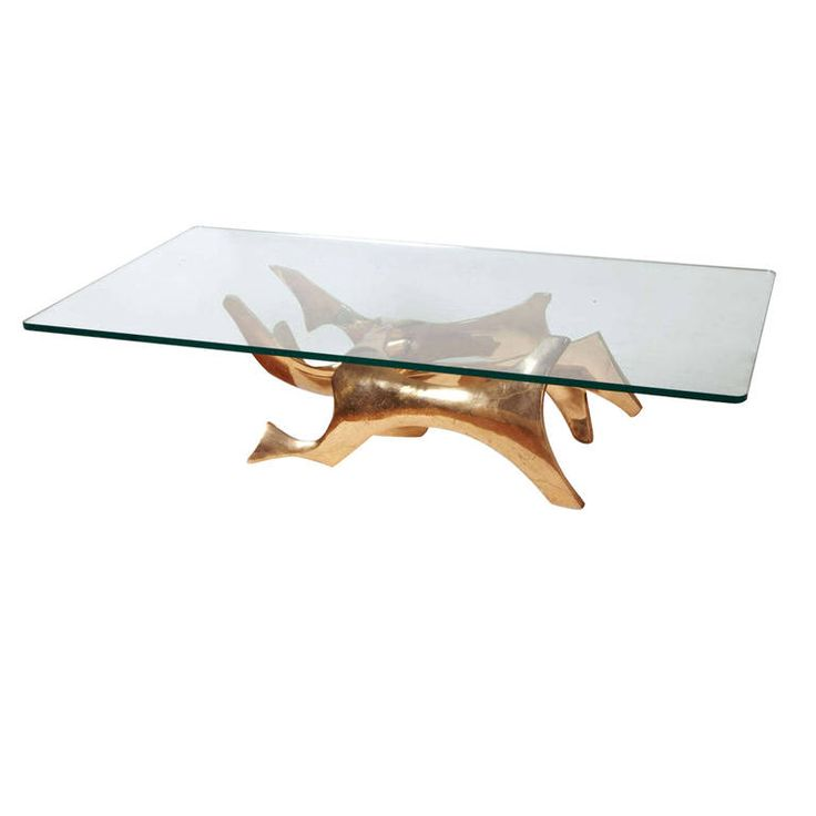Sculpted Bronze Coffee Table By Fred Brouard, 1970s