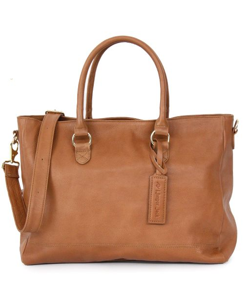 100% Leather Tote Bag Jinger Jack's Casablanca Tote bag is great for the lady who likes her spacious bag. This top grain leather in pull-up or natural milling leather style has a roomy style has a canvas-lined interior with plenty of space for your tablet, work documents and even a pair of spare flats. Casablanca is a great bag for traveling or a to carry to work. Choose to carry it over your shoulder with the detachable and adjustable shoulder strap or convenient top handle. Size & Fit W...