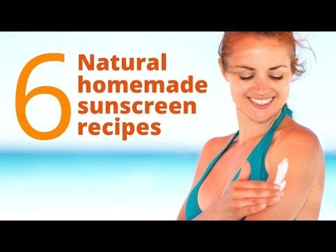 DIY: Make Your Own Homemade All Natural Sunscreen Lotion in Under 20 Min. 100% Effective SPF 30 - YouTube
