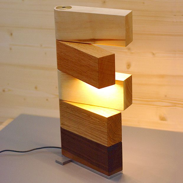 Side Lamp table light by Thomas Lemut, collaborating with the cabinet maker Johannes Eckhart. Limited edition, numbered and signed.