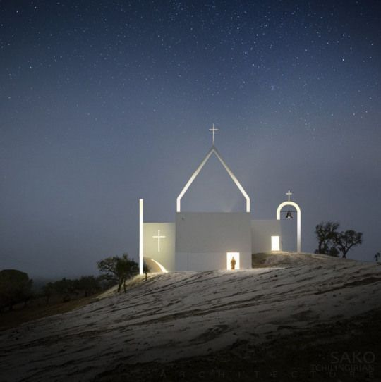 Contemporary Armenian open air church humble architecture ...