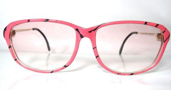 80's Vintage Funky Shocking Pink Panther Pattern by whatthefunk