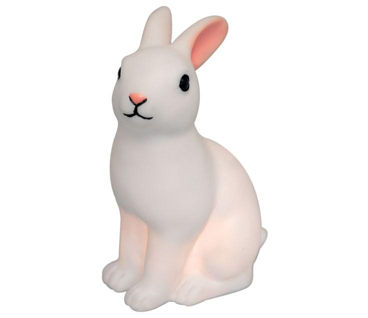 Nattlampe, hvit kanin nattlampe