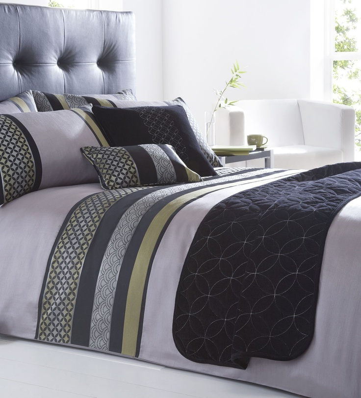 Chic grey and green bedding set dingworld