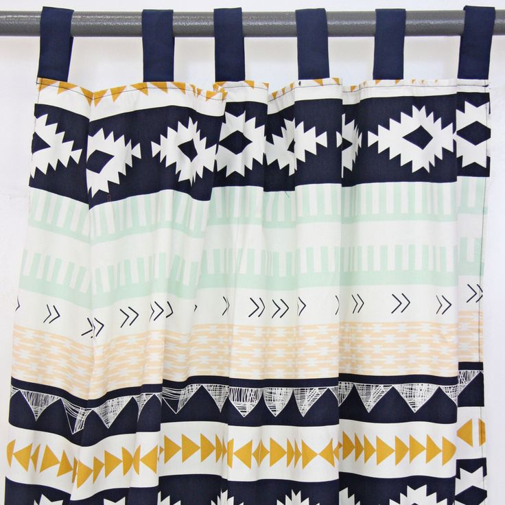Aztec Gold & Mint Curtain Panels by CadenLaneBabyBedding on Etsy https://www.etsy.com/listing/200057020/aztec-gold-mint-curtain-panels