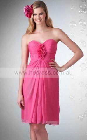 Chiffon Sweetheart Empire A-line Knee-length Bridesmaid Dresses 0740158--Hodress
