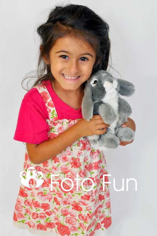 Catalina big smile and Bunny Rabbit