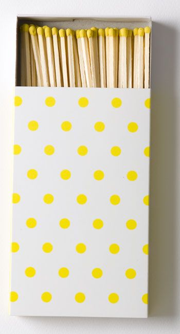 Yellow matchbox