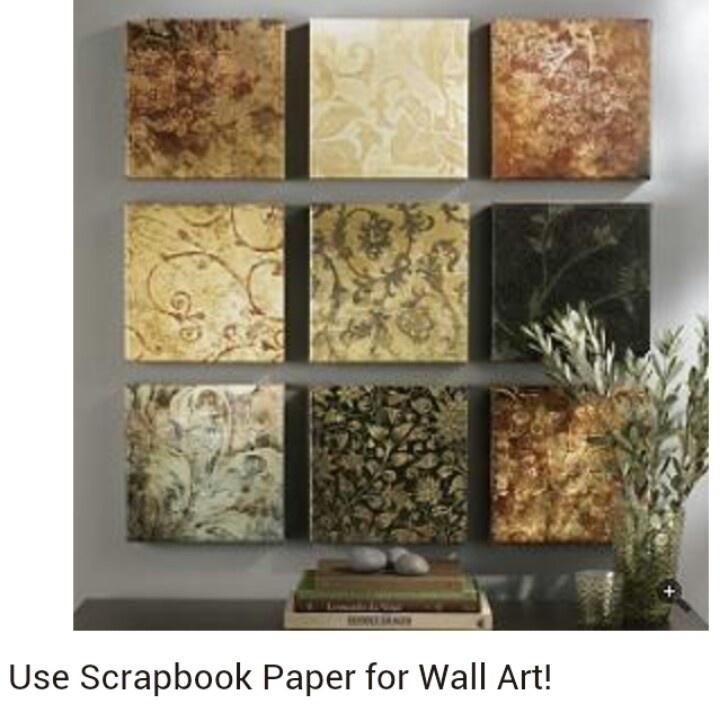 use scrapbook paper