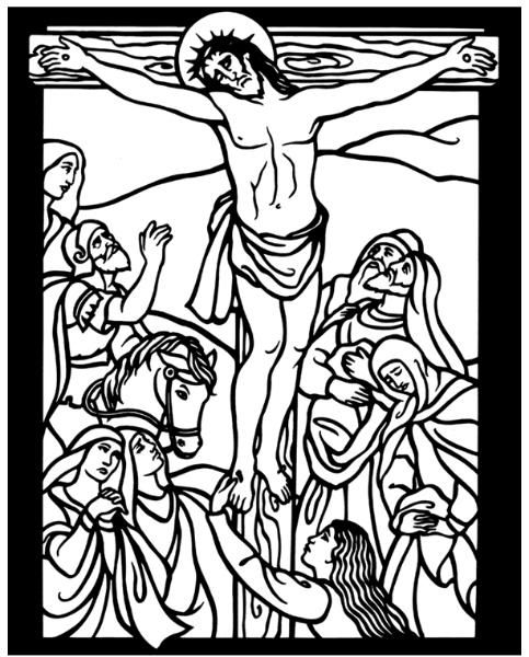 The Crucifixion Bible Coloring PagesArt