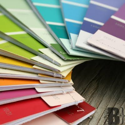 DIY: Love These Pretty Little Paint Chip notebooks !