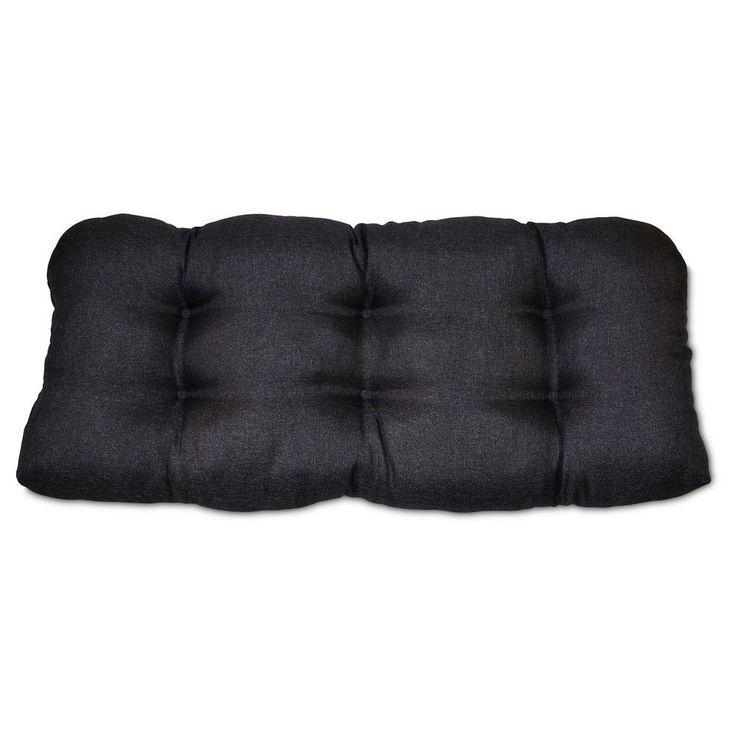 Tufted Settee Cushion - Black - Threshold