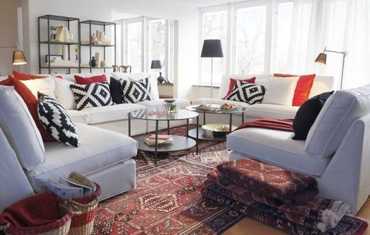 45 best what works with oriental rugs like em or not this for Ikea living room ideas 2013