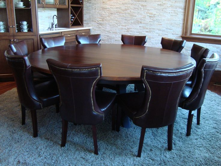 Round custom dining table. Contact us about your custom table needs