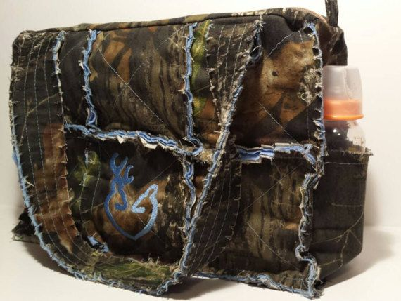 Mossy Oak camo diaper bag / large camo rag bag by daleshandmade