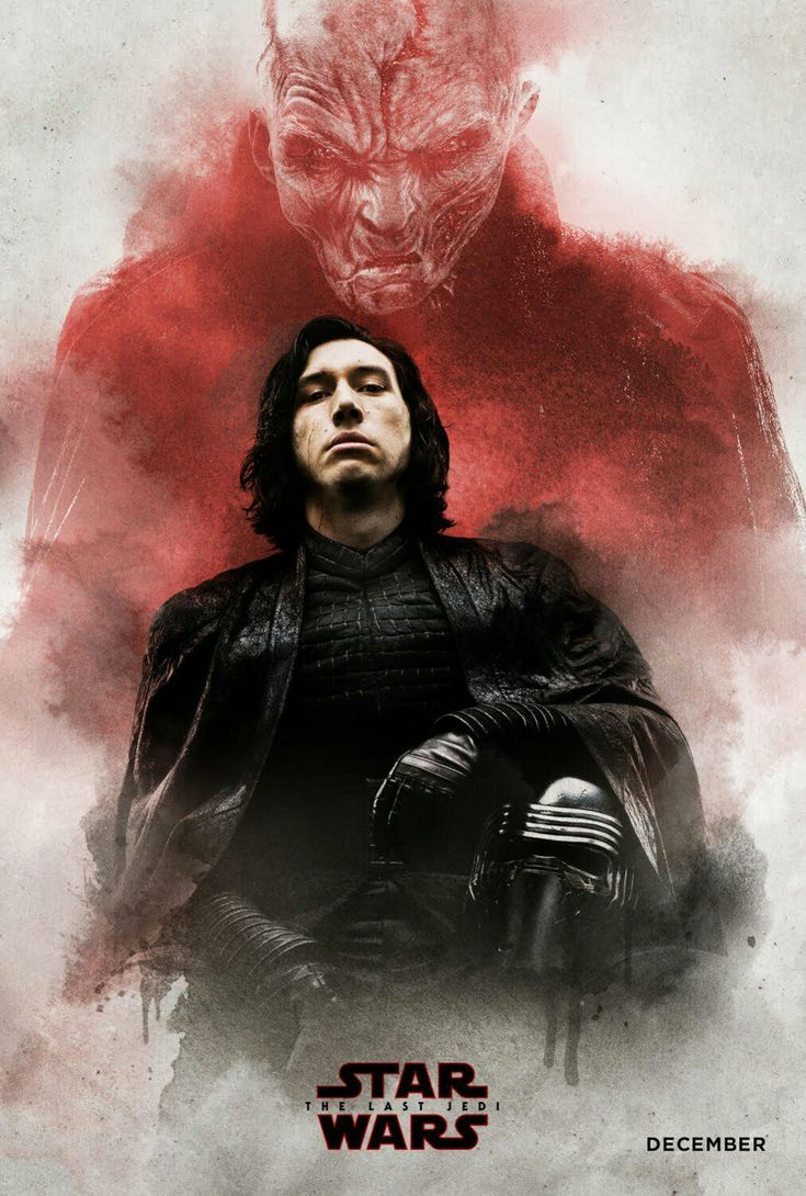 Kylo Ren & Snoke - Star Wars: The Last Jedi. Incredibly this is artwork for a collectable ticket for Regal Cinemas IMAX (USA)