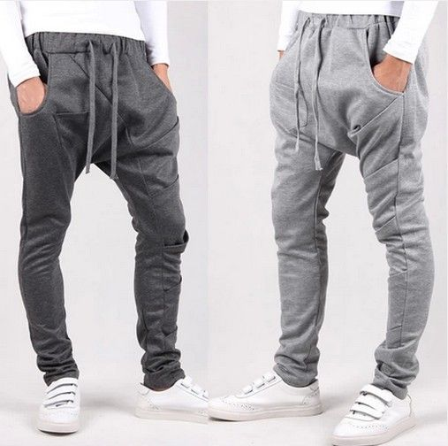 2014 drop crotch New style fashion mens pant sport outdoors cargo Casual harem pants ,thicken jogging ,sweatpants-inPants from Apparel & Acc...