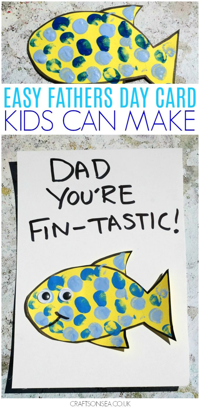 Isn't this little card fin-tastic?! This simple idea is perfect for a Fathers Da...