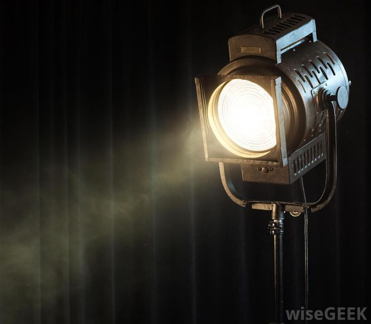 this is a spotlight and you can change where the spotlight shines whenever you want.  http://images.wisegeek.com/theatre-stage-spotlight.jpg