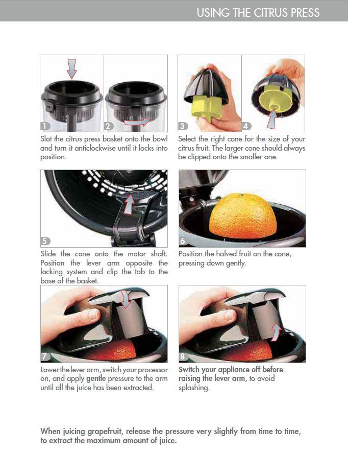 Magimix citrus press