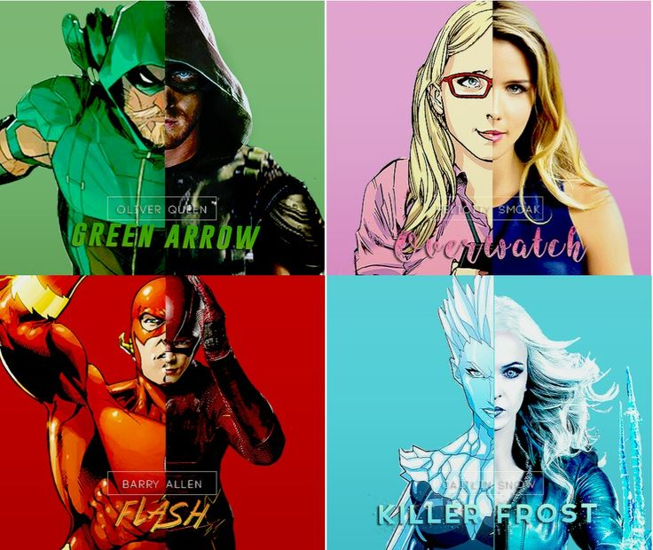 Green Arrow & Overwatch The Flash & Killer Frost #Olicity & #Snowbarry