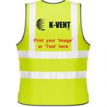 Hi  Visibility Vest with print