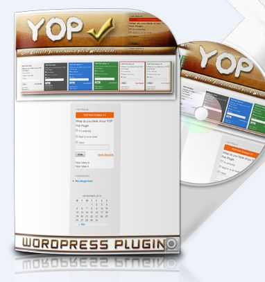 YOP Poll Plugin YOP Poll plugin allows you to easily integrate a survey in your blog post/page and to manage the polls from within your WordPress dashboard but it offers so much more than other similar products. Simply put, it doesn't lose sight of your needs and ensures that no detail is left unaccounted for.