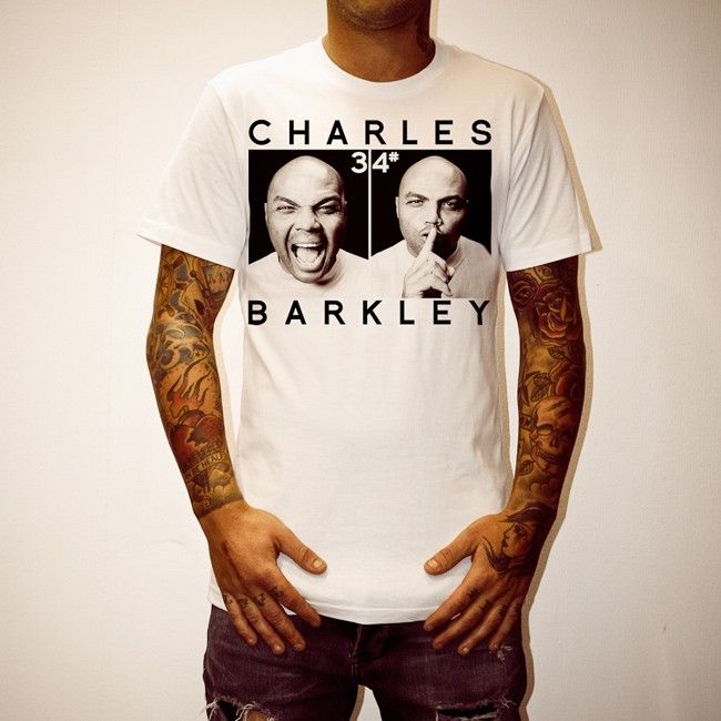 Buy Charles Barkley White Tee Shirt online today at Uncle Reco's Online Store.