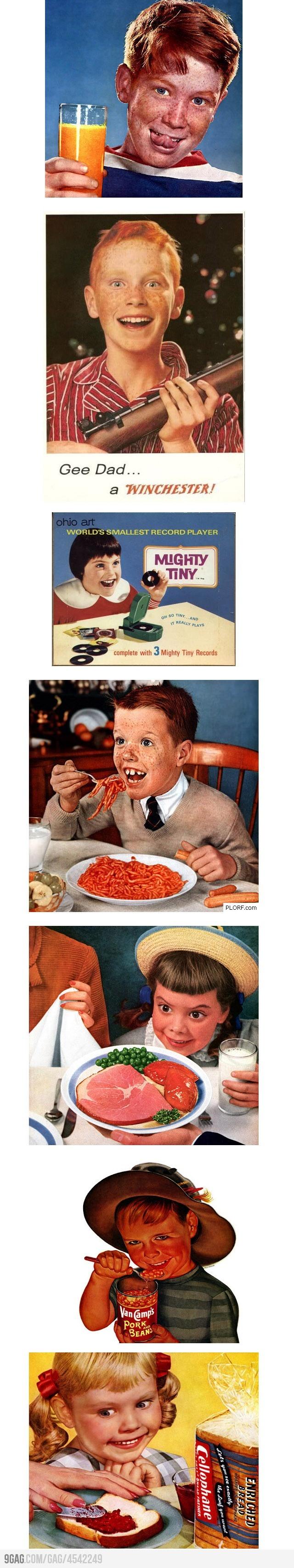Creepy Kids In Vintage Ads