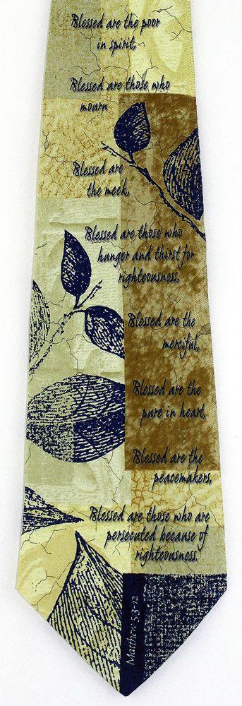 The Beatitudes Mens Necktie Jesus Teaching Christian Religious Silk Gift Tie New #EaglesWings #NeckTie