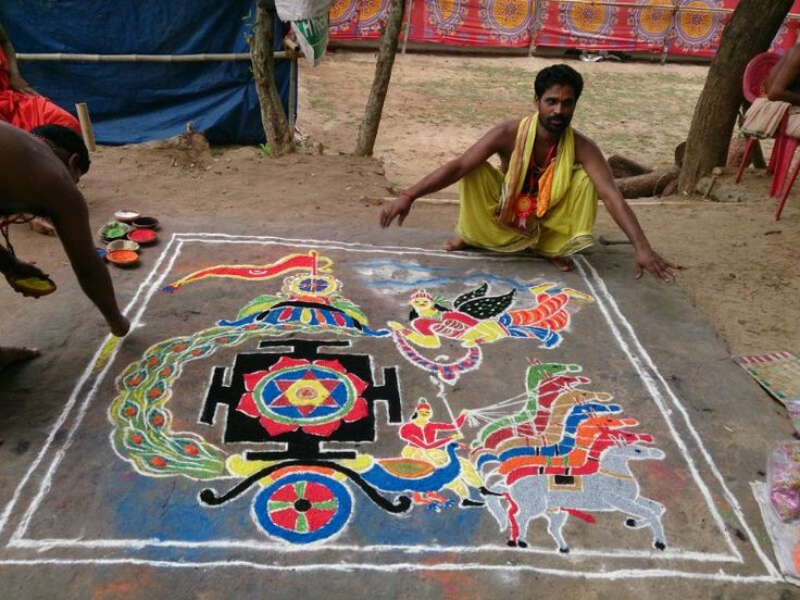 Surya Puja with temporarily made Yantra; Yajna at Jajpur Biraja Khsetra performed in June 2014