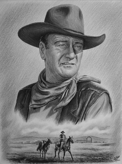 If you look up cowboy in the dictionary you'll find a picture of John Wayne! : )