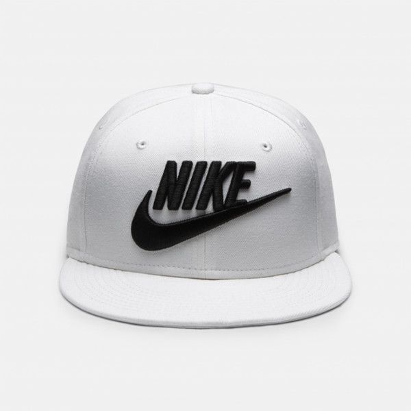 Nike Futura True 2 Snapback ❤ liked on Polyvore featuring accessories, hats, nike, nike hat, adjustable hats, snap back hats and woolen hat