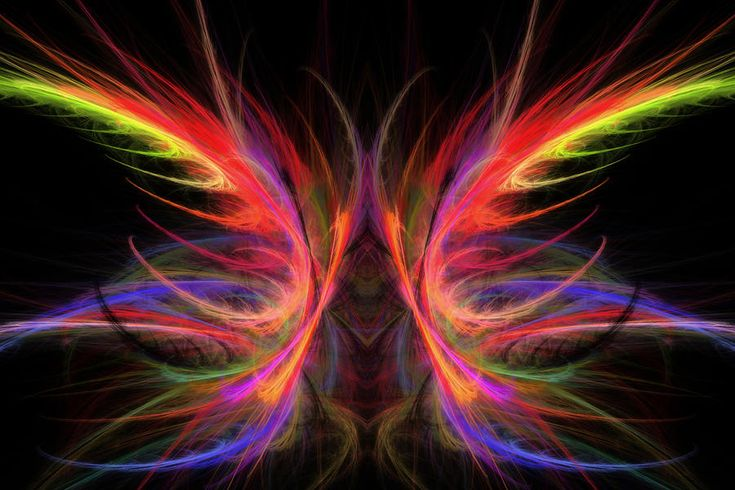Computer-Generated Imagery | Computer Generated Abstract Butterfly Fractal Flame Art Photograph