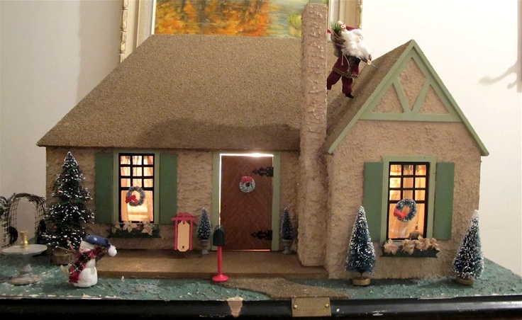 I Couldn T Resist This Vintage Colonial Dollhouse From The: 1000+ Images About Christmas Village...making One On