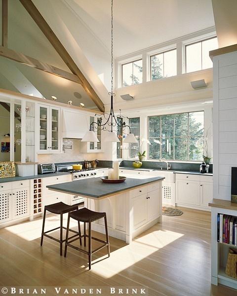 Windows In Kitchen And Extra Island Seating Kitchen Island Ideas Pinterest Dark