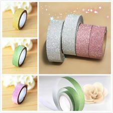 Craft 5m Glitter Washi Tape Book Decor DIY Scrapbooking Adhesive Paper Sticker U