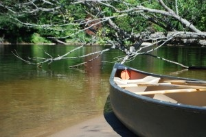 Canoeing on Lake Manitouwabing, McKellar Canada