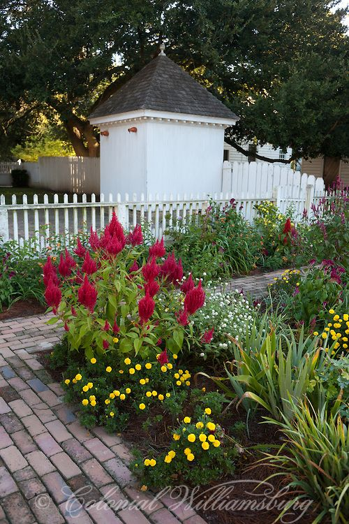 Great The Taliaferro Cole Garden In September At Colonial Williamsburg. Photo By  Dave Doody.