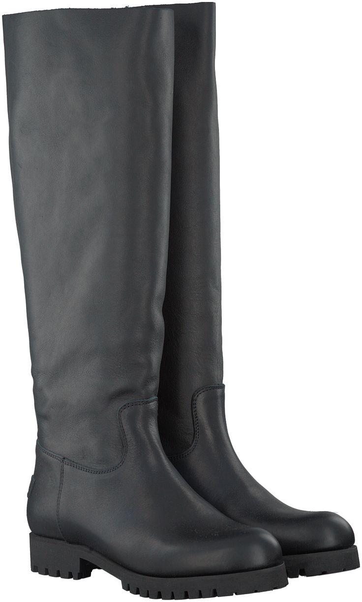 Zwarte Shabbies Lange laarzen 228126