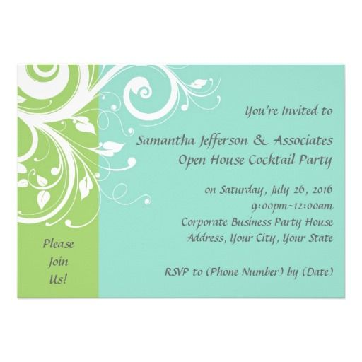 20 best Business Open House Invitations images on Pinterest - business event invitation
