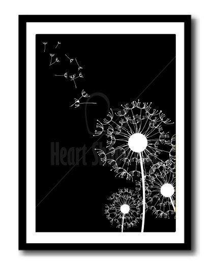 Make a Wish, White Black, Home Printable Poster, Instant Download, Resizable to any Size, High Quality Illustration, Wall Art, Home Decor