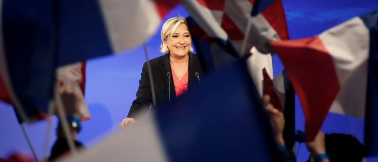 Marine Le Pen, French National Front (FN) political party candidate for French 2017 presidential election, concedes defeat at the Chalet du Lac in the Bois de Vincennes in Paris after the second round of 2017 French presidential election, France, May 7, 2017.    REUTERS/Charles Platiau - RTS15K68