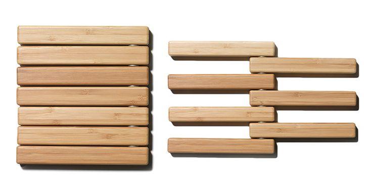 Bamboo Hot Pot Expandable Trivet Hot Pot Wood Working