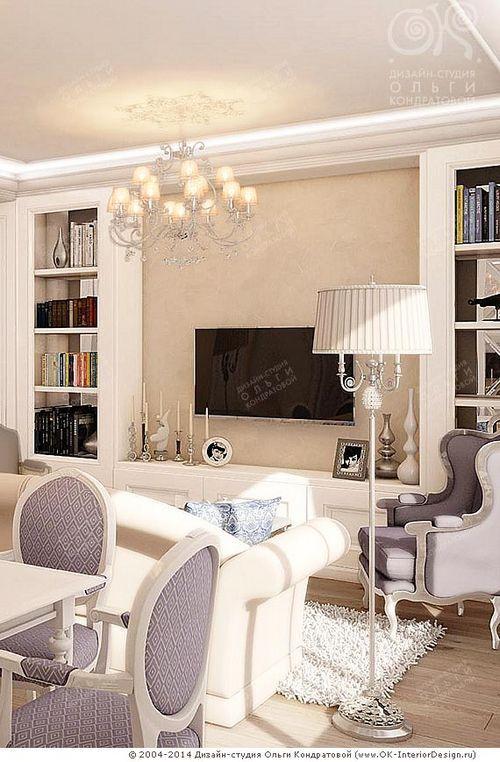 Дизайн тв зоны в гостиной с электрокамином