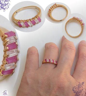 "Vanyssa Bijuu Vintage: Inel fin si feminin, tip ""Inel de Logodna"" decorat..."