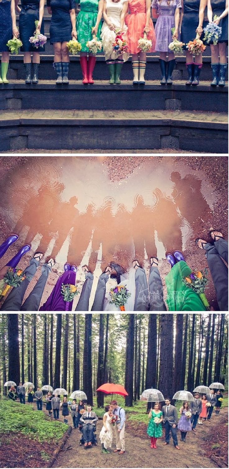 haha.  we should do this if it rains.  especially since my bridesmaids are wearing different colored dresses and we're getting married in the woods.  :P