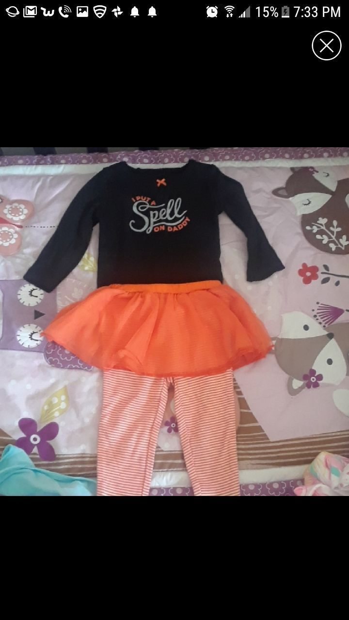 This is a 2 piece carters Halloween outfit size 9 months brand new just took the tags off