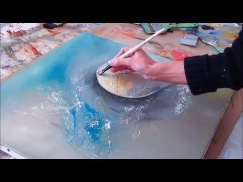 Abstract painting – Demonstration of abstract painting (8) – Althea – YouTube